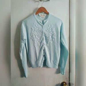 Vintage Jeri-Jo NY powder blue cardigan